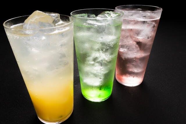 A variety of Japanese ramune soda