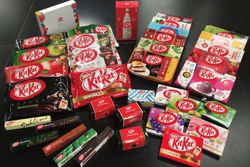 The Kit Kat Chocolatery in Ginza, Tokyo, Japan, is home to hundreds of unique Kit Kat flavors