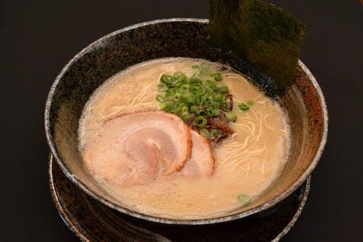 A bowl of tonkotsu, one of Japan's most famous varities of ramen.