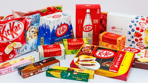 Japanese Kit Kats are famous for their large variety of seasonal flavors