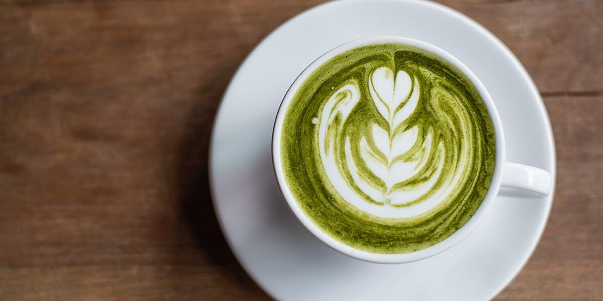 A Japanese matcha latte