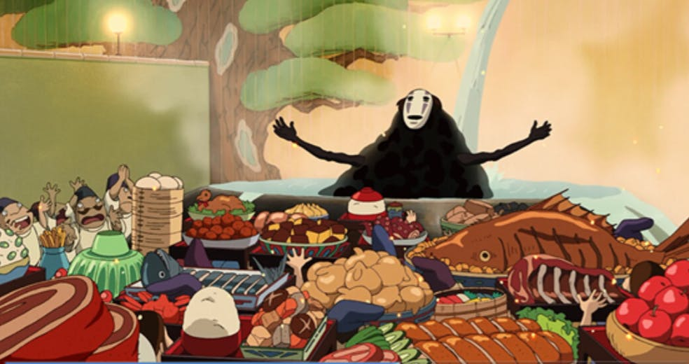 C7e9a2f62de2506f3902d8cc49efe7b54c6dc44b the food of hayao miyazaki films part 1 spirited away