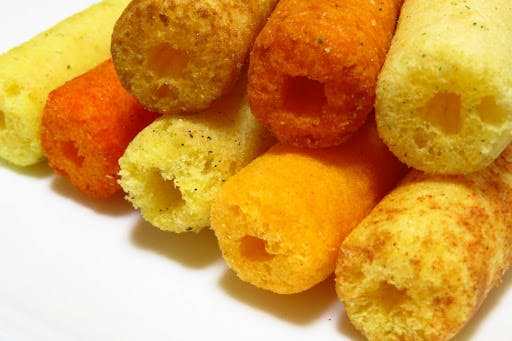 Umaibo are a light and crispy Japanese snack.