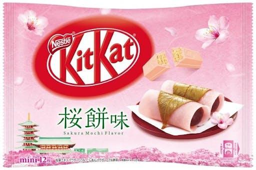 A bag of Sakura flavored Japanese Kit Kats