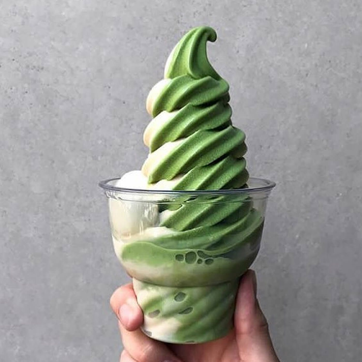 Japanese Matcha flavored ice cream