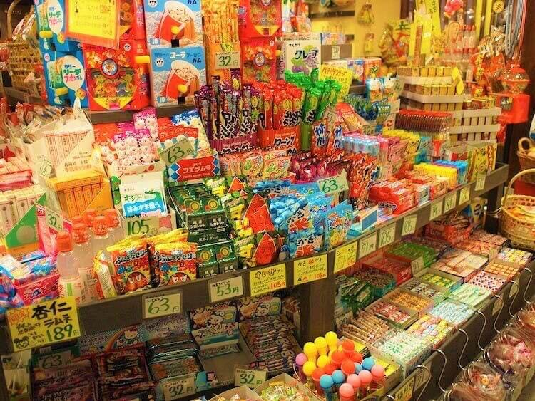 What are dagashi? Traditional Japanese snacks solid in shops called dagashi-ya.