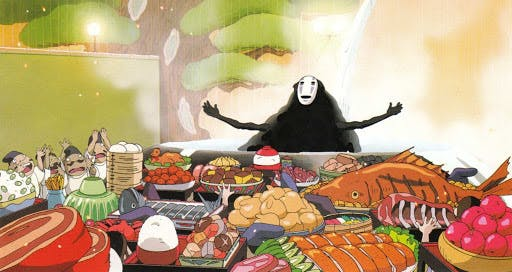 Spirited away is known for it's depictions of delicious Japanese food and Japanese snacks