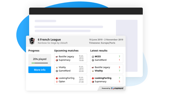Display Your Tournament Anywhere with Our Widgets