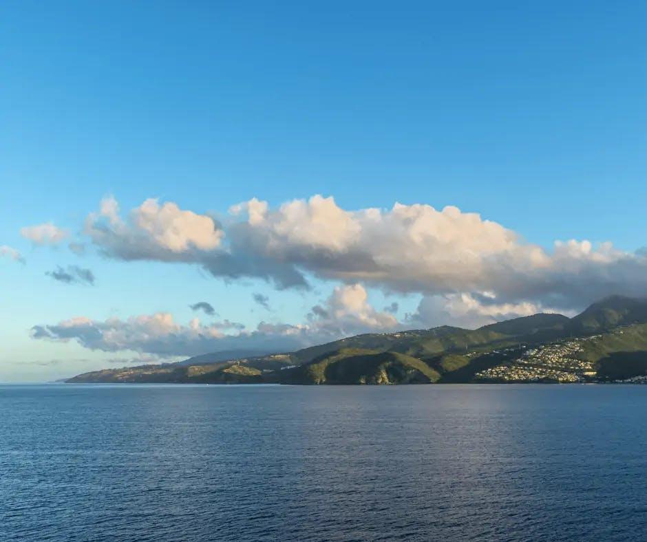 Photo de la côte martiniquaise