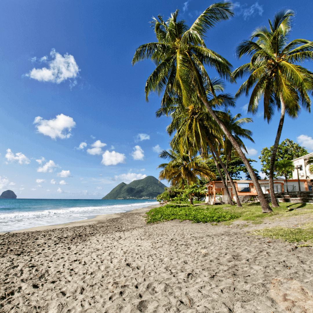 Martinique avril plage