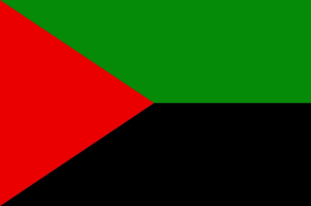 Drapeau nationaliste, rouge vert noir