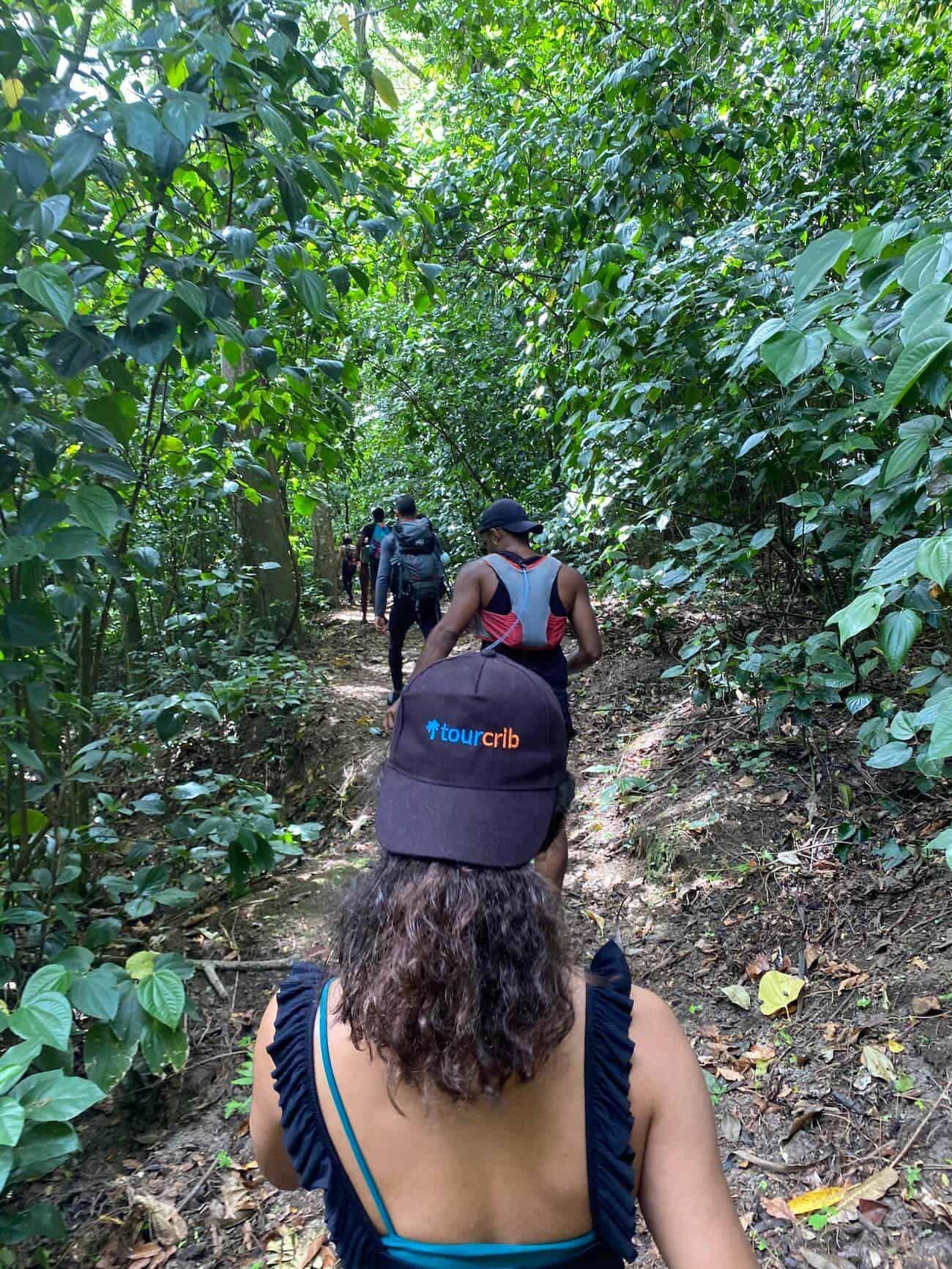 Équipe Tourcrib en randonnée à l'Anse Couleuvre