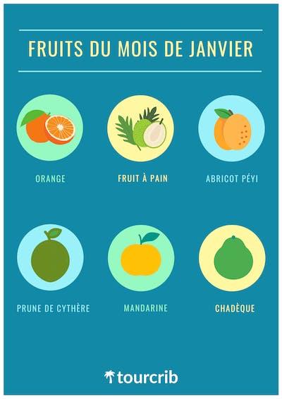 Fruits du mois de janvier en Martinique