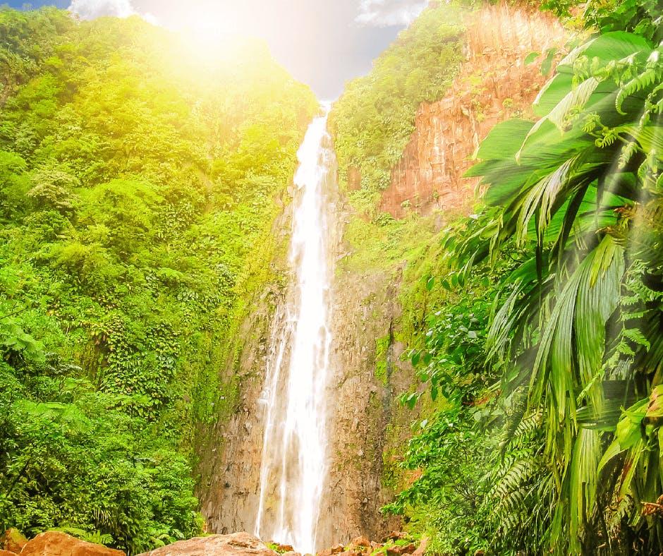 Cascade en Guadeloupe