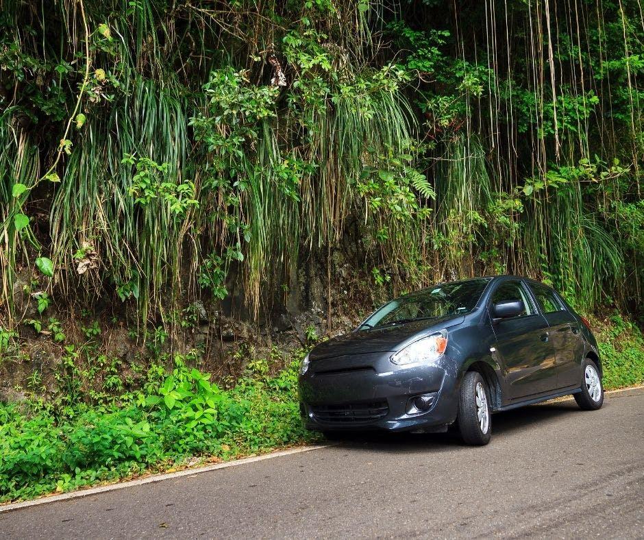 Exemple d'une voiture de location en Martinique