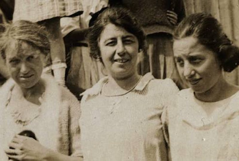 Vintage photo of three women standing side by side