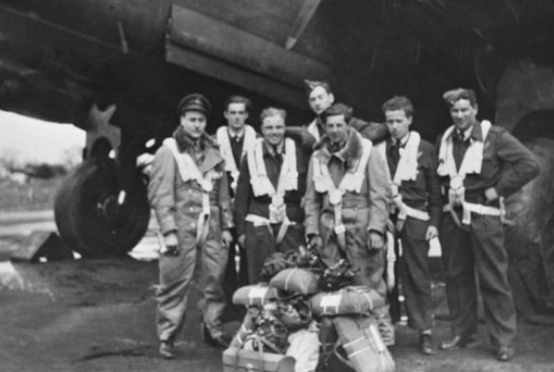 The crew of Lancaster KB726