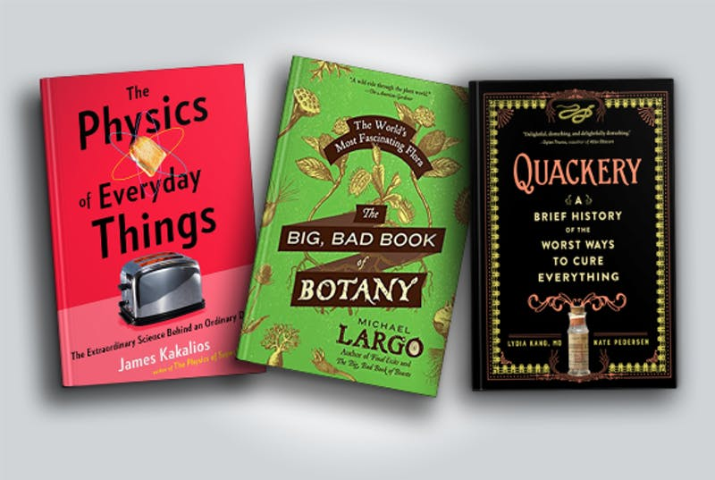 Three books about science.