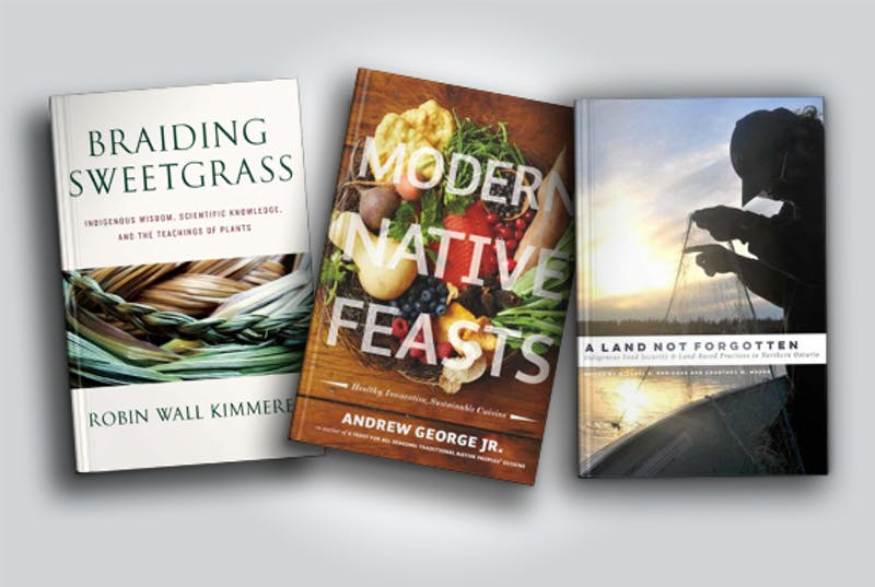Three cookbooks written by Indigenous authors.