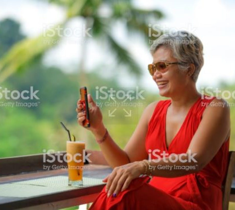 Woman checking the latest trading signals