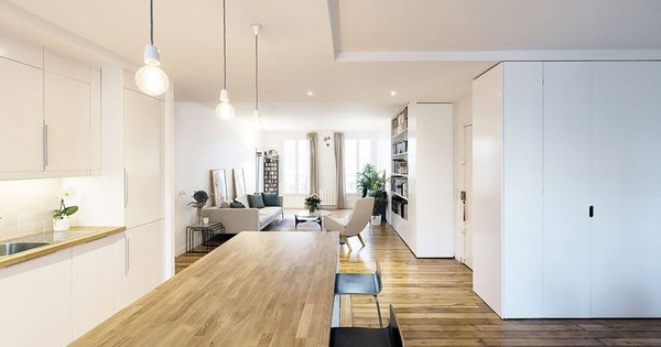 Rénovation d'un appartement parisien de 100 m²