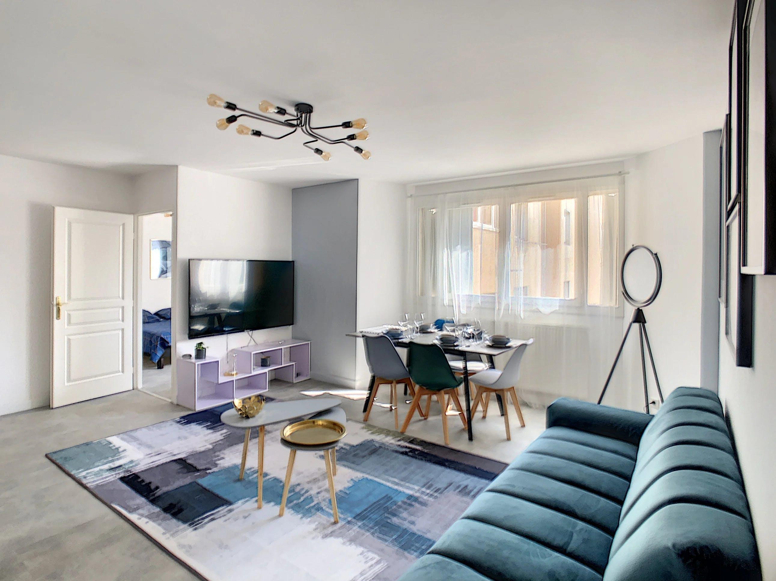 Rénovation séjour appartement lyonnais