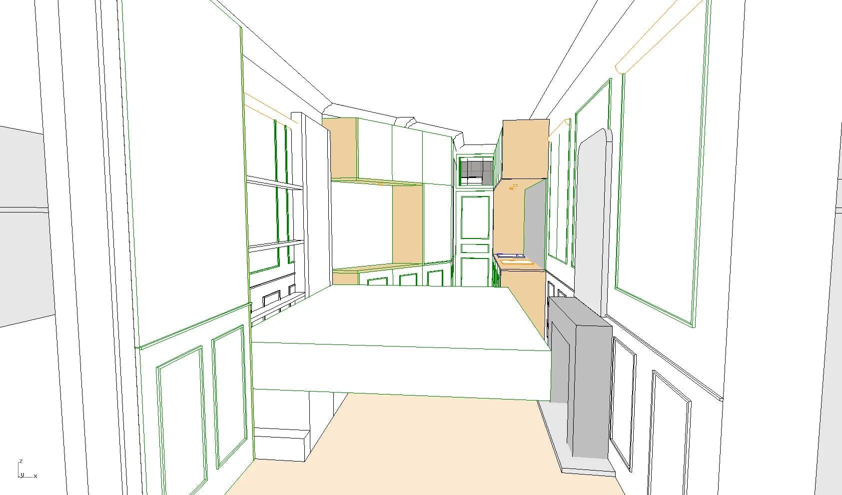 plan 3d studio rénovation