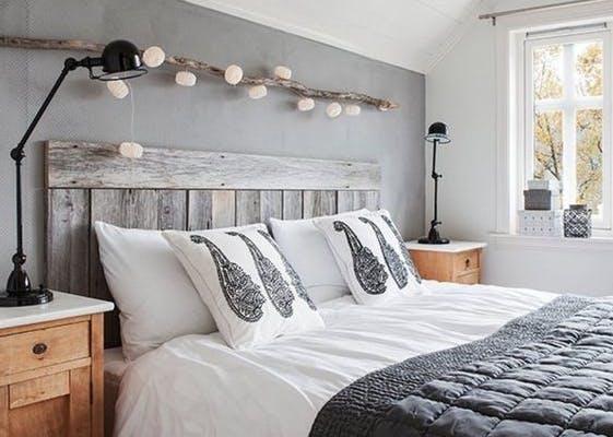 chambre papier peint cosy guirlande lumiere