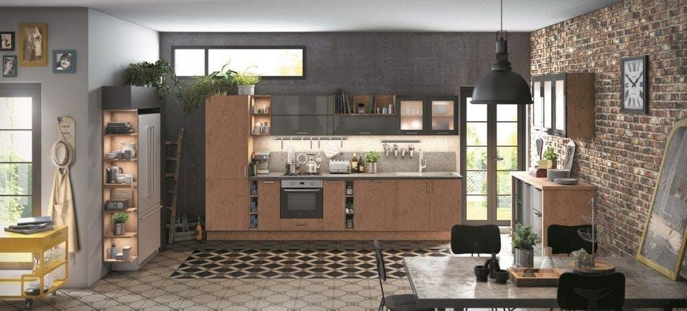 cuisine ixina style vintage industriel
