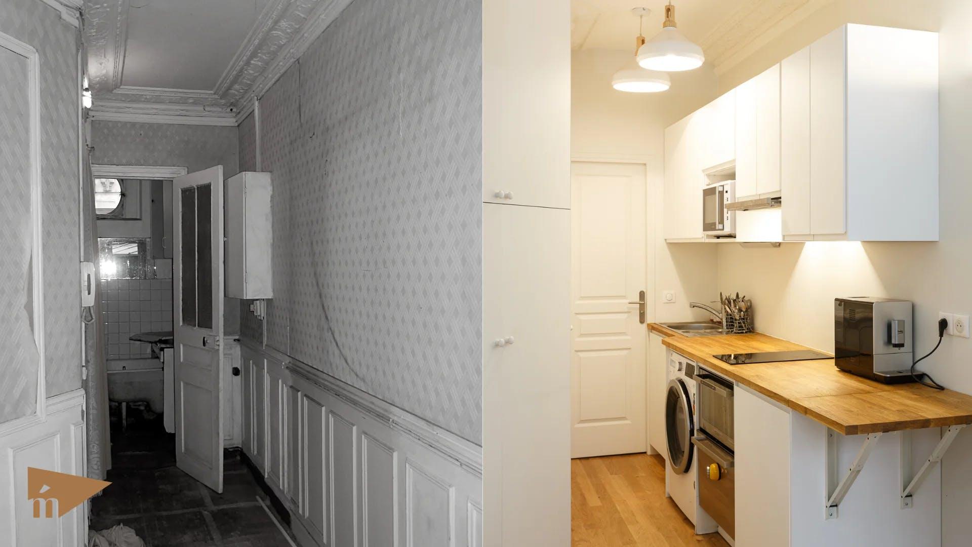 avant et après rénovation cuisine