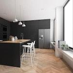 Rénovation du sol et des murs de la cuisine