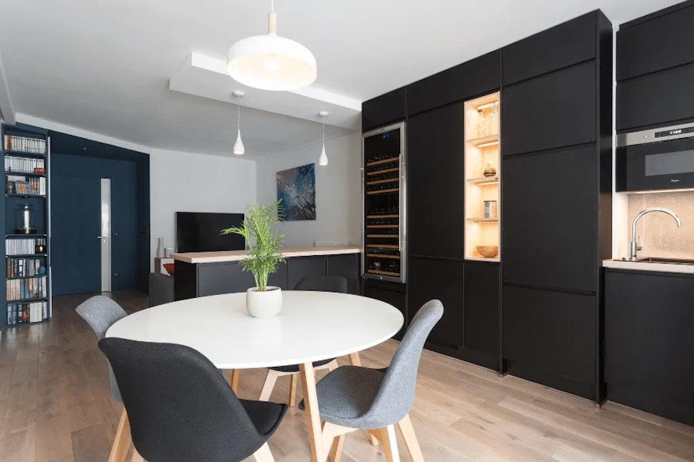 appartement à paris 13 salle à manger ouverte