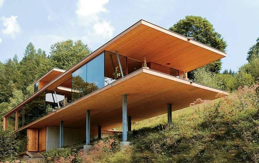 Maison à panneaux de bois CLT