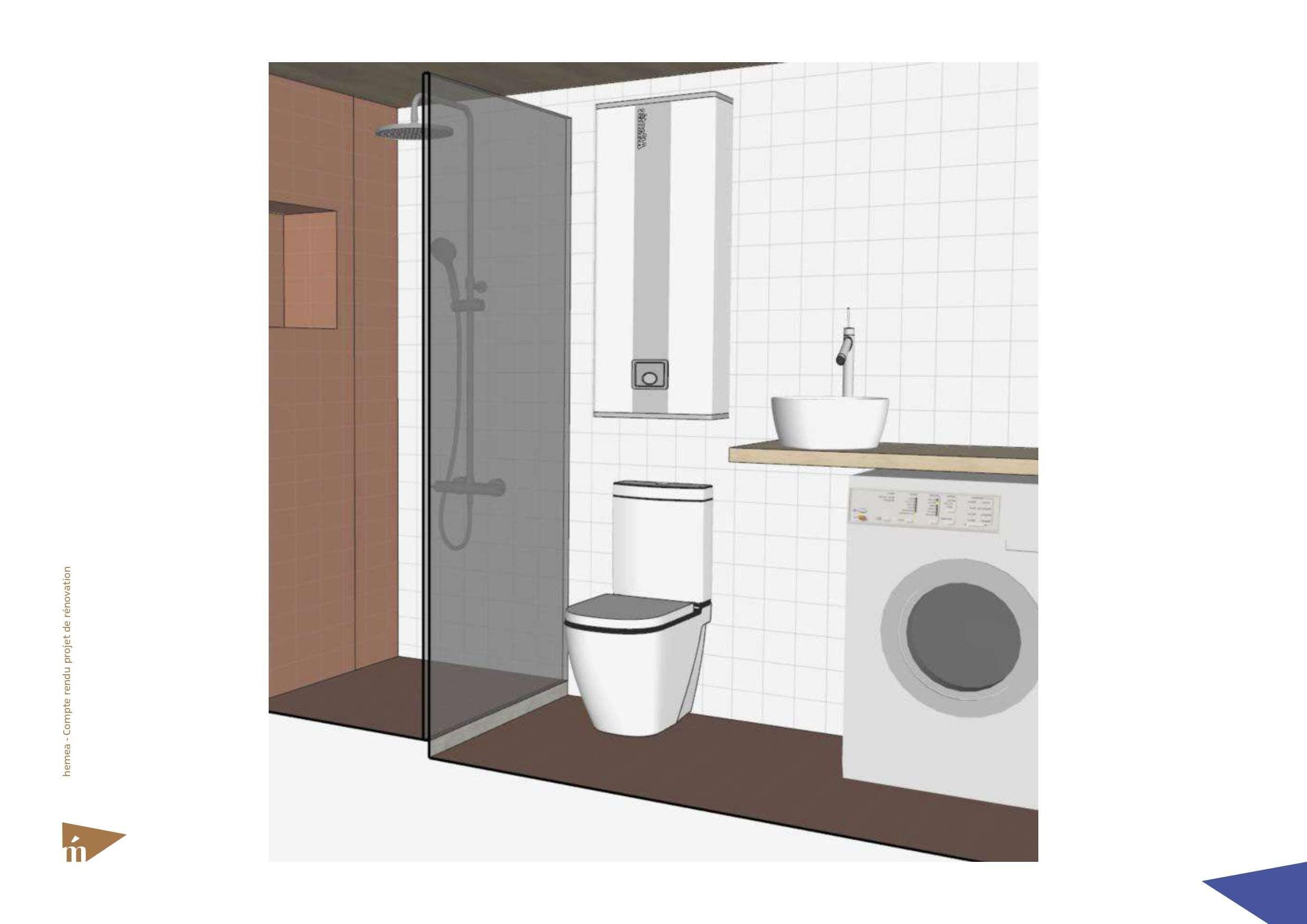 Plan 3D de la salle d'eau