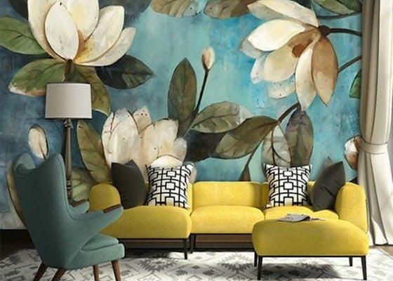 papier peint bresil salon