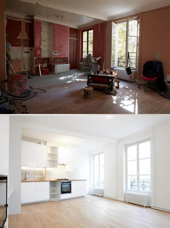 Photos de suivi de chantier avant / après