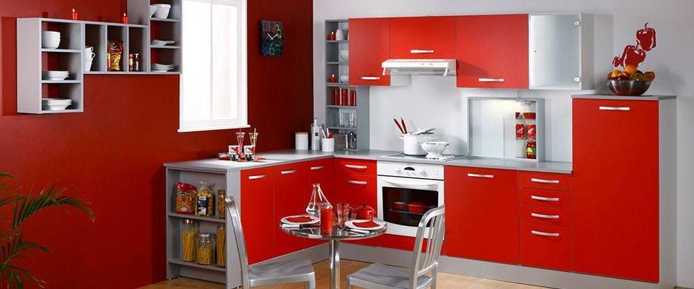 cuisine alinéa blanche et rouge