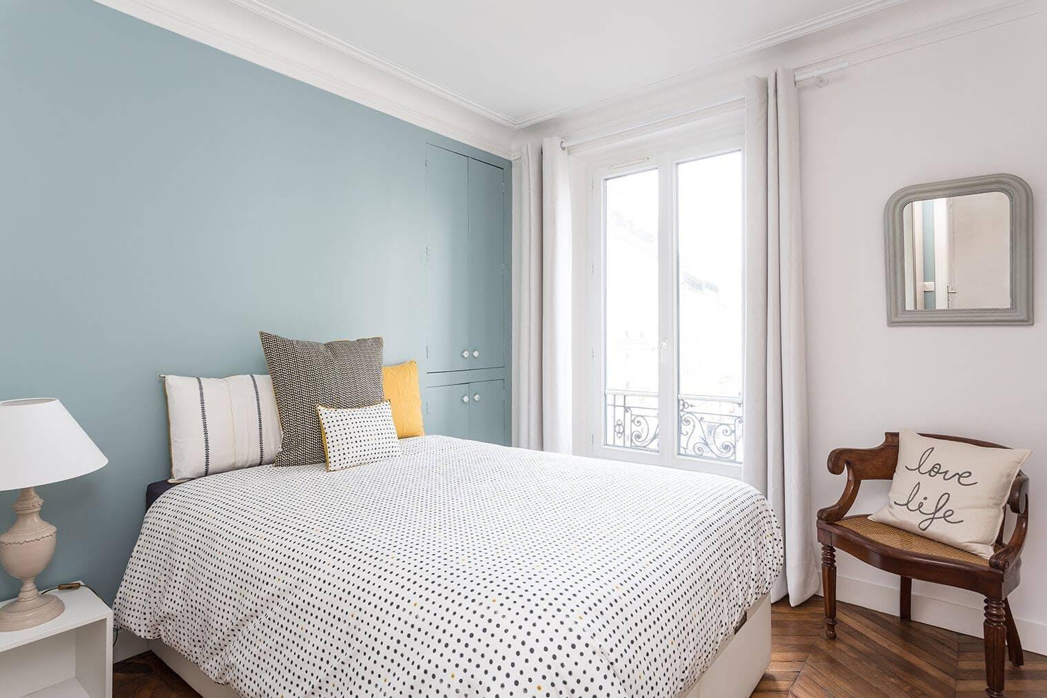 Rénovation chambre appartement haussmannien