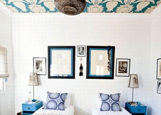 papier peint plafond chambre