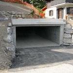 Construction d'un garage enterré