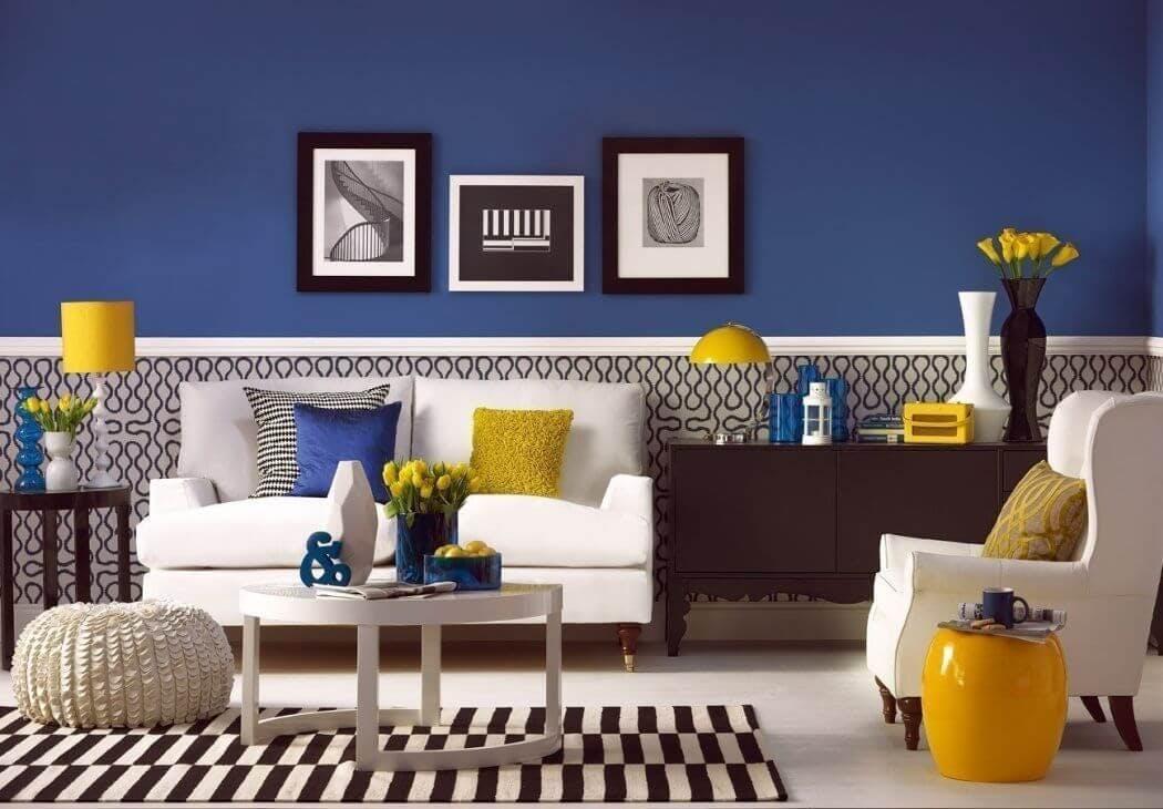 Couleur bleue tendance décoration