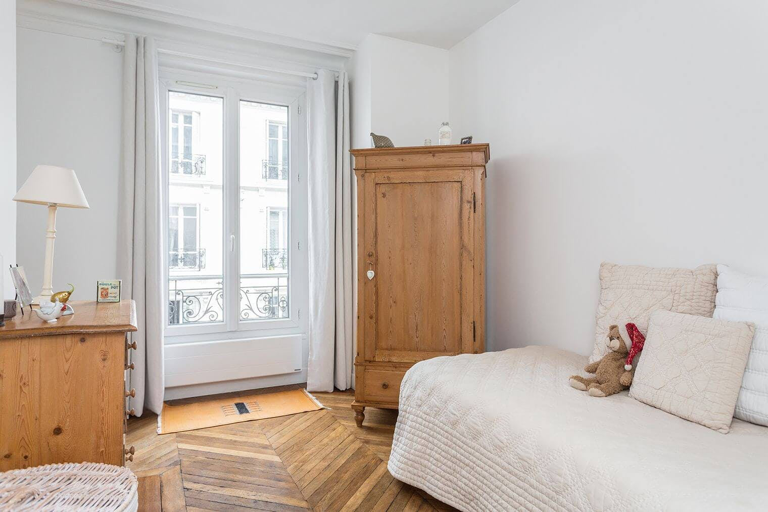 Renovation chambre appartement haussmannien