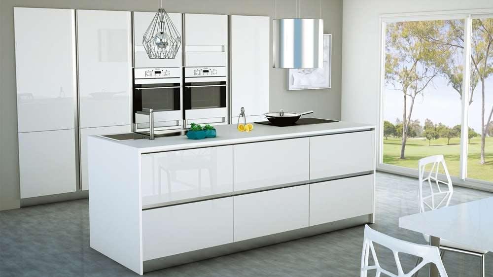 cuisine Teissa moderne meubles blancs laqués
