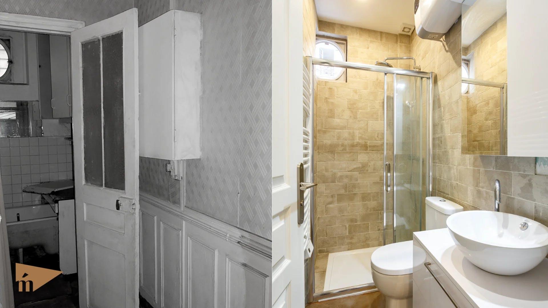 avant et après rénovation salle de bain