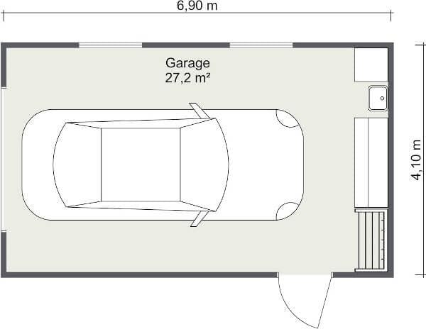 Plan d'amenagement d'un garage