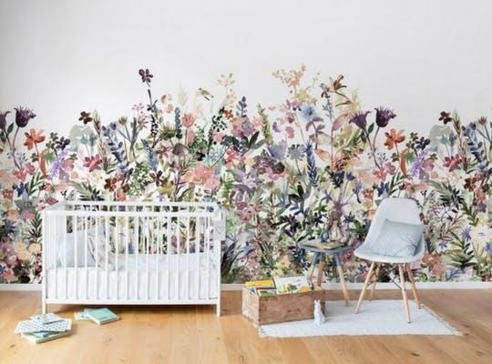Chambre d'enfant florale