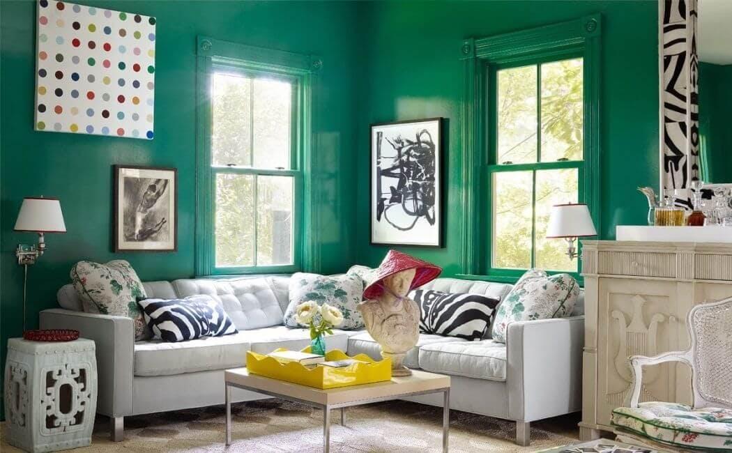 Decoration tendance avec couleur verte