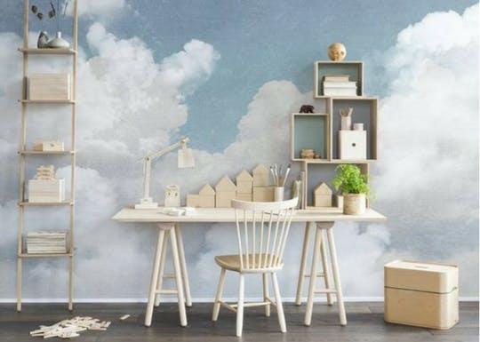 Papier peint thème nuage