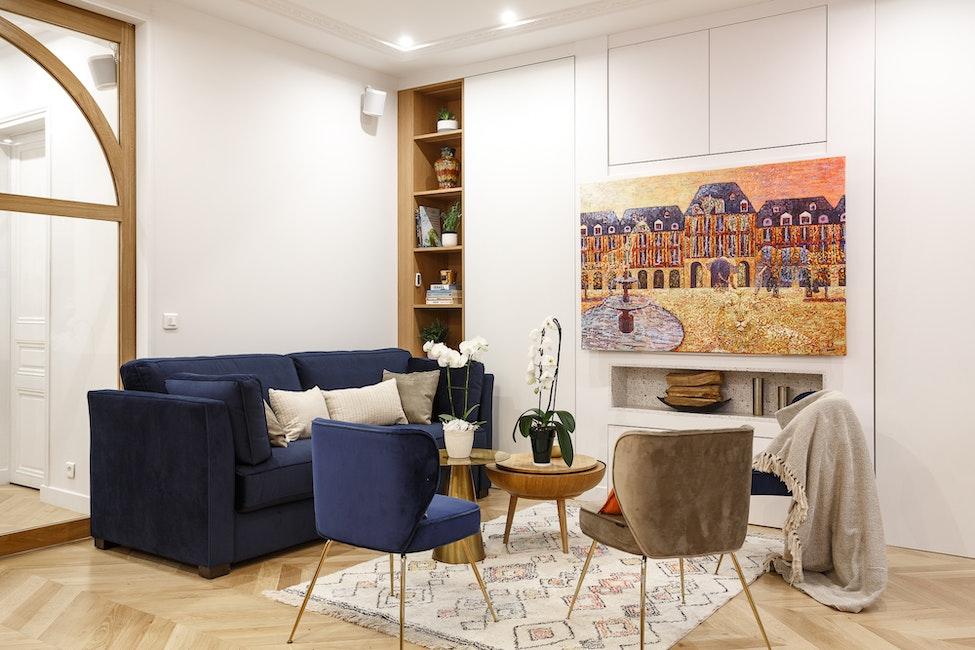 rénovation séjour luxe