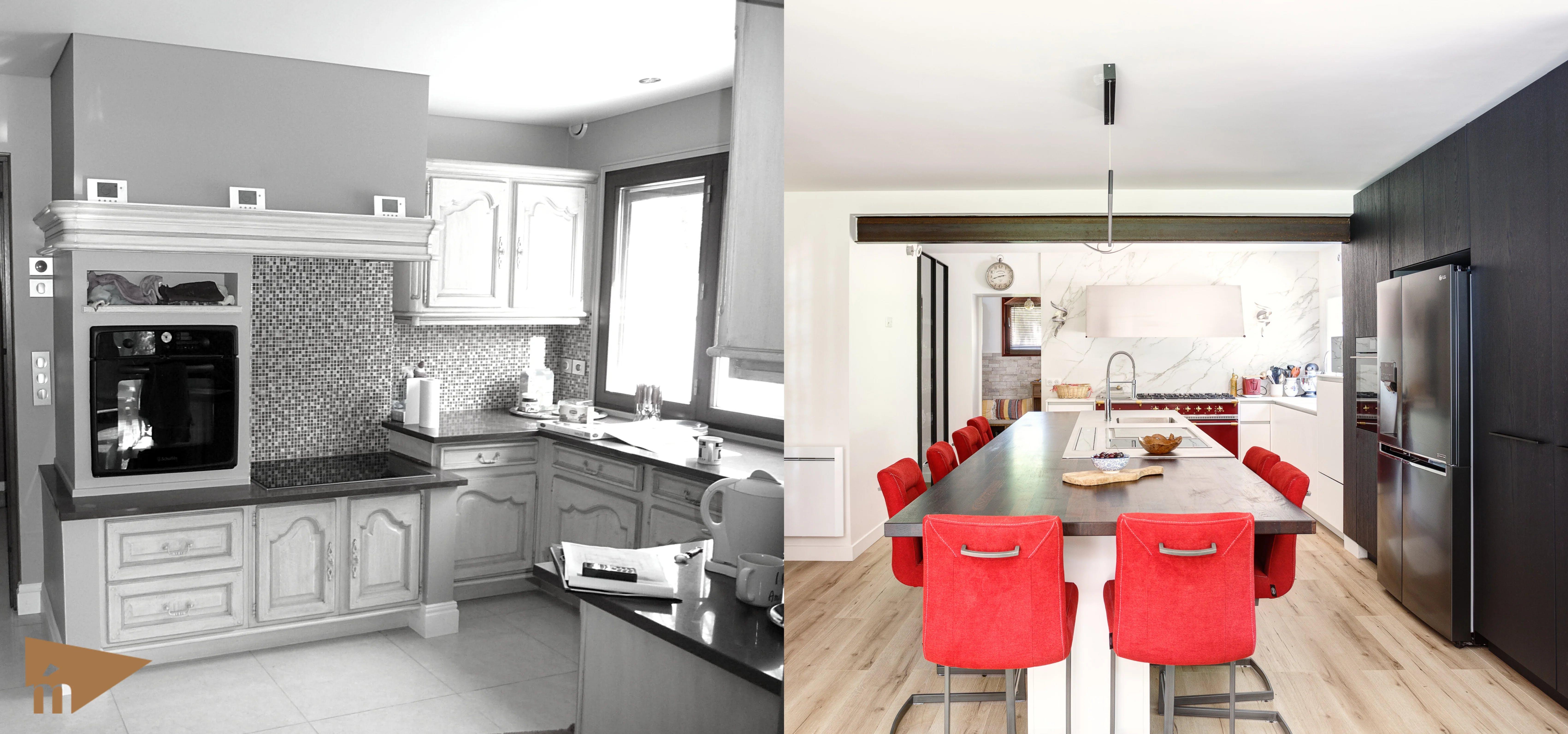 cuisine avant et après rénovation